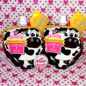 Castella Whitening Body Lotion Almond Oil Milk pusatcantik webid