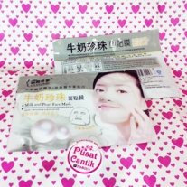 Milk and Pearl Shining Whitening Face Mask PusatCantik